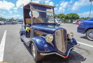 Blue Streetrod Club Car Golf Cart in Sun City Center