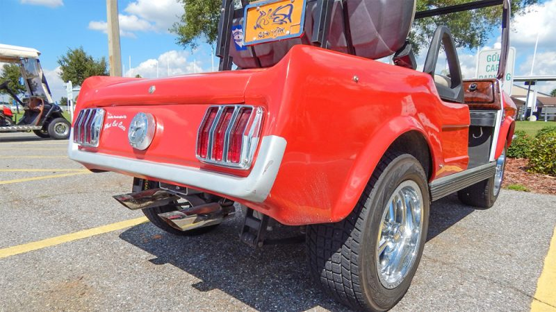 Customized Mustang >> 65 Ford Mustang golf cart with authentic parts by Phat Cat Carts – Sun City Center Photos