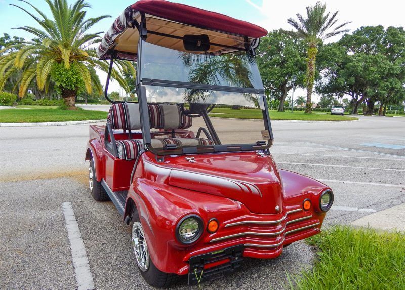 Customized 40s Truck Club Car golf cart, Sun City Center, FL