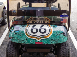 Customized Route 66 E-Z-GO golf cart, Sun City Center, FL