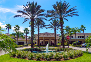 Driveway going into the South Clubhouse in Kings Point, Sun City Center, FL