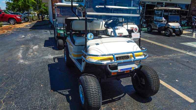 E-Z-GO Golf Cart with chrome bumper, Sun City Center, FL