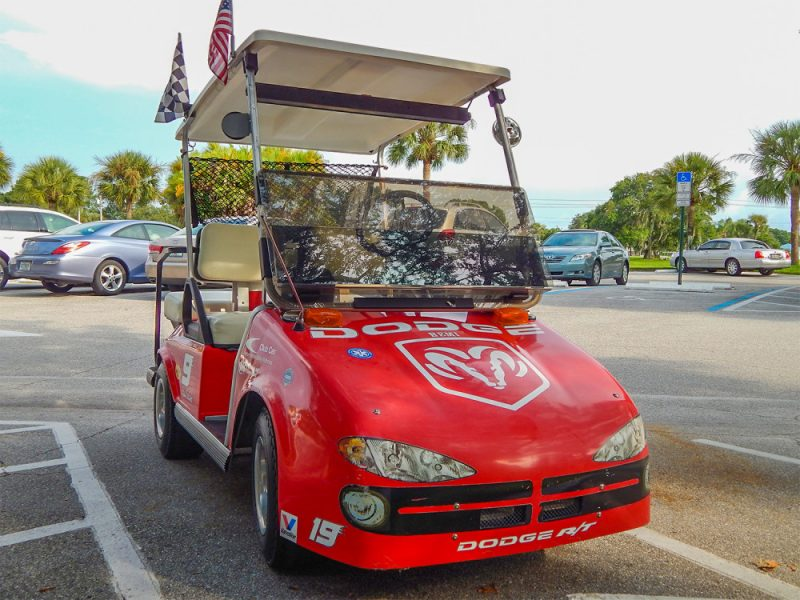 Evernham Doge RT Nascar Club Car golf cart, Sun City Center, FL