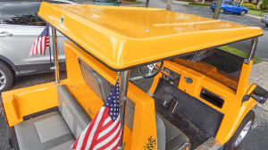 Hard top of Hummer H3 golf cart by ACG Cars