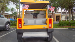 Hummer H3 yellow golf cart