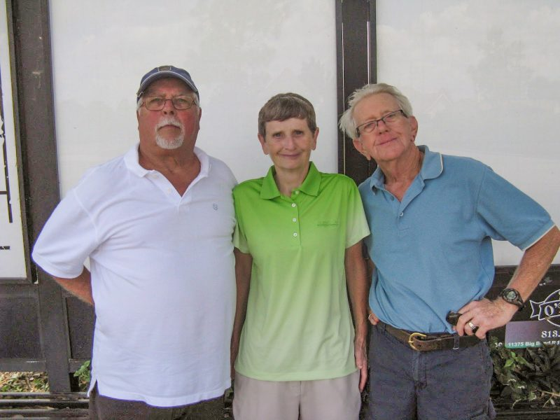 Left to Right Bill Konopasek, Jenice Taylor, and Hank Smythe Hogans Golf Club of Kings Point and Sun City Center
