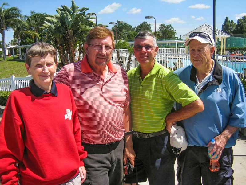 Left to Right Jenice Taylor, Rex Gibbons, Jim Sari, Frank OBrien | Hogans Golf Club of Kings Point and Sun City Center [submitted by Pam Jones]