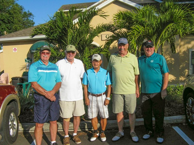 Left to Right:  Mike Brock, Bill Giblin, Ray Bui, Don Koester, and Charlie Brown | Hogans Golf Club of Sun City Center and Kings Point