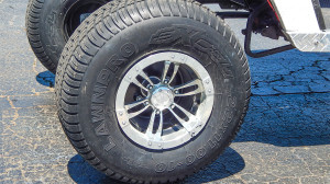 MOJO Wheels with LAWNPRO EXCEL 22 inch tires on E-Z-GO golf cart