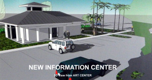 New Information Center view from ART CENTER at Sun City Center Community Association, N Pebble Beach Blvd and Cherry Hills Drive