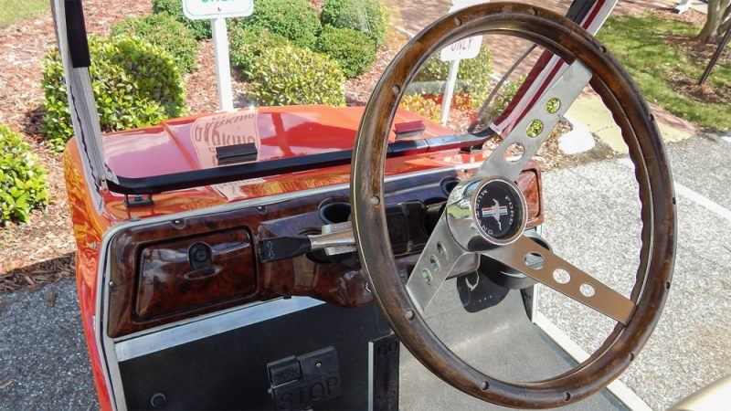 65 Ford Mustang golf cart with authentic parts by Phat Cat ...