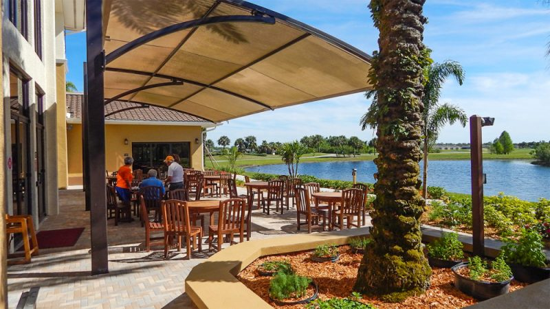 Patio At Palm Court Cafe At Kings Point South Clubhouse, Sun City Center