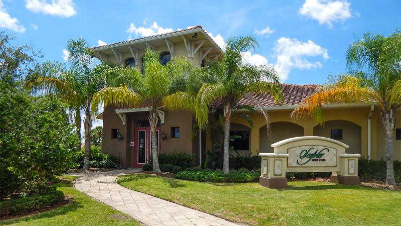 Scepter Golf Club building in Kings Point, Sun City Center, FL