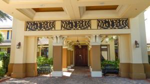 Underneath portico at Club Renaissance, Sun City Center, FL