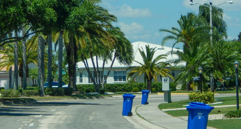 Wednesday - Recycle Trash Pickup Day in Sun City Center, FL
