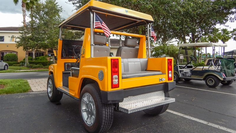 Hummer H3 yellow golf cart  H2 Hummer Golf Cart