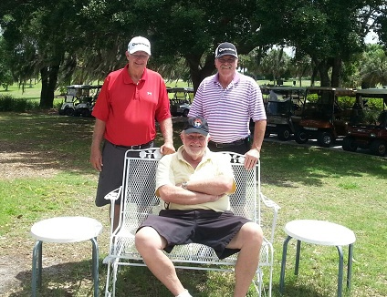 Back Row Left to Right: Bob Wright and Paul Swakow, Front Row: Rich Lucidi | Hogans Golf Club  of Sun City Center and Kings Point