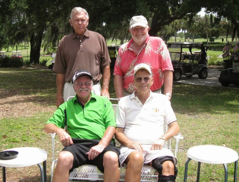 Back Row Left to Right Don Mowry and Rich Lucidi, Front Row Left to Right Paul Swakow and Bill Barron | Hogan Golf Club of Sun City Center and Kings Point