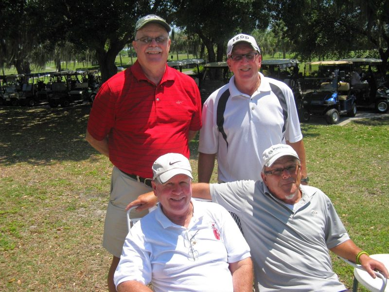Back Row Left to Right: Mike Brock and Joe DeFelice, Front Row Left to Right: Dan McGee and Tom Rosata, Hogans Golf Club of Sun City Center and Kings Point