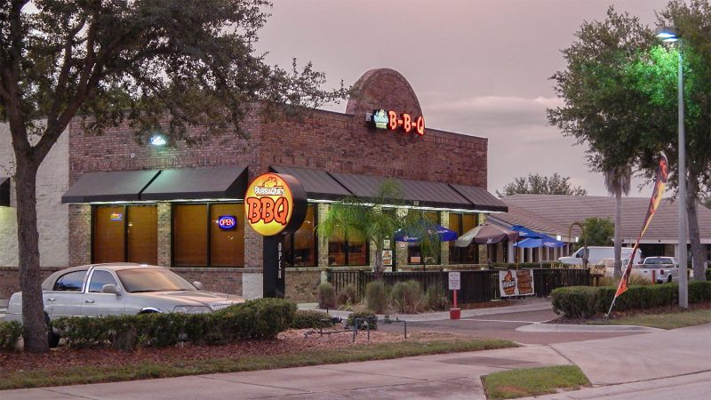 Bubbaques BBQ at dusk in Sun City Center, FL