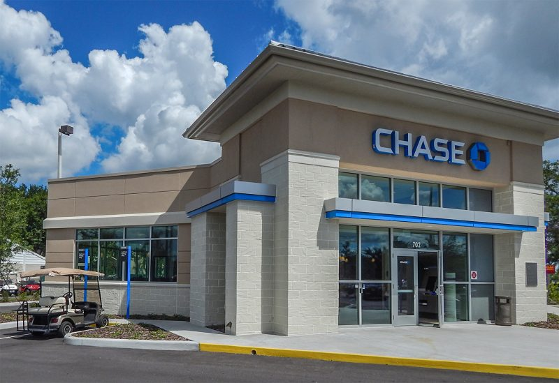 Chase Bank in Sun City Center provides front row parking for golf carts in Sun City Center, FL