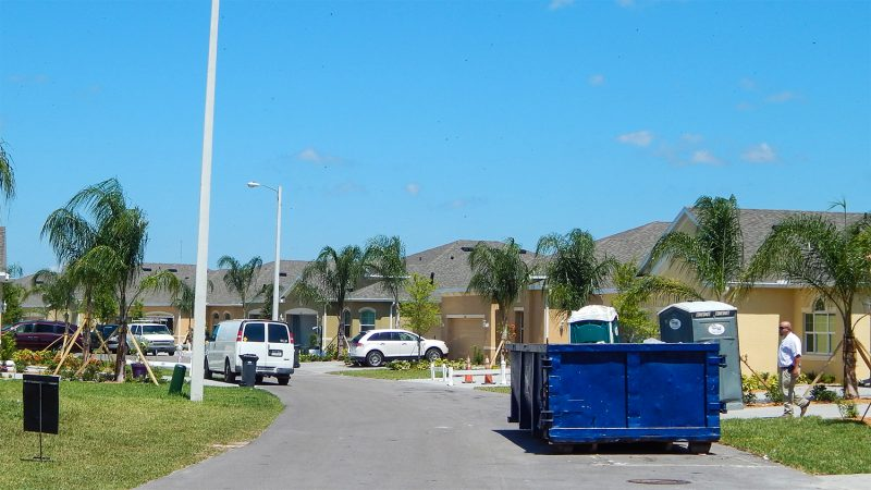 Home construction on Nottingham Greens Drive in Kings Point, Sun City Center, FL