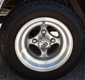 ITP brush aluminum wheels on Rolls Royce Royal Ride golf cart