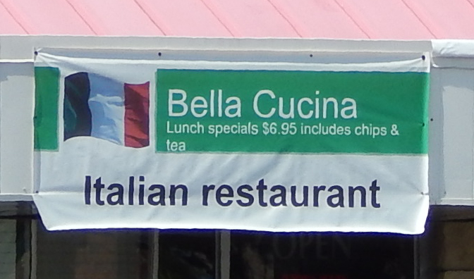 Italian Restaurant Bella Cucina has lunch specials