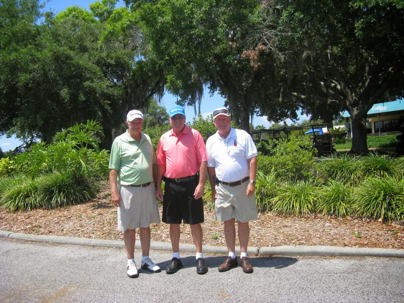 Left to Right: Bob Wright, Paul Swakow, and Dan McGee | Sandpiper Golf Club Oaks-Lakes, Sun City Center