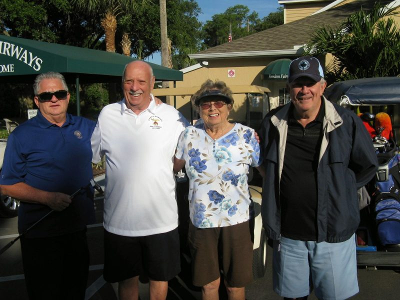 Left to Right: Charlie Brown, Don Koester, Karen Jones, and Bill Giblin | Freedom Fairways Golf Course, Sun City Center