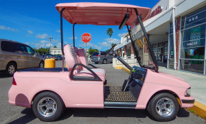 Mary Kay BMW golf cart