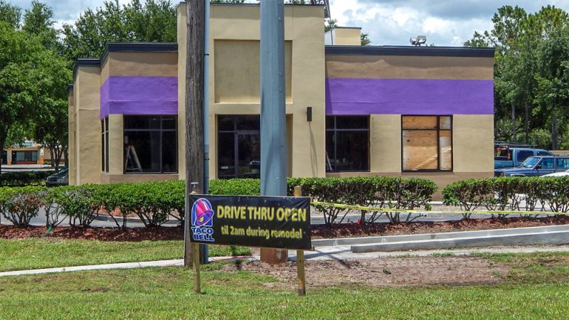May 2014 remodeling update at Taco Bell in Sun City Center