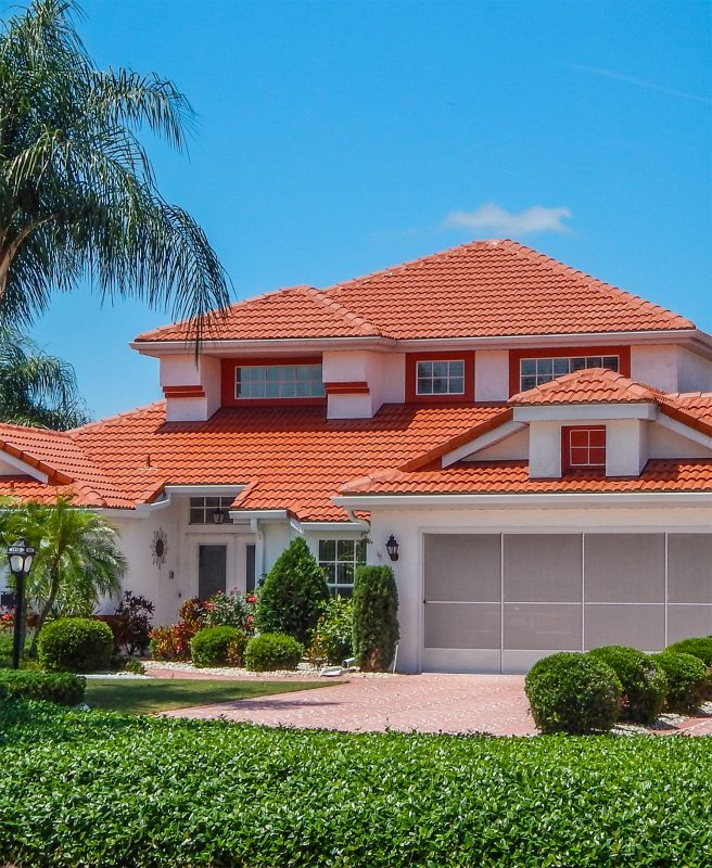 Some red clay roof tiles come with a 50-year warranty