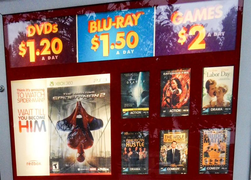 Redbox pricing: DVDS $1.20 Blue Ray $1.50 Games $2.00