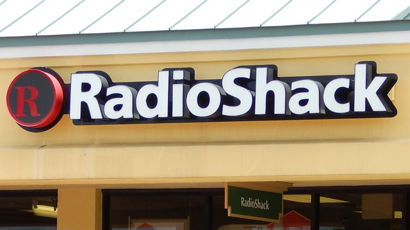 Sign RadioShack on front of building