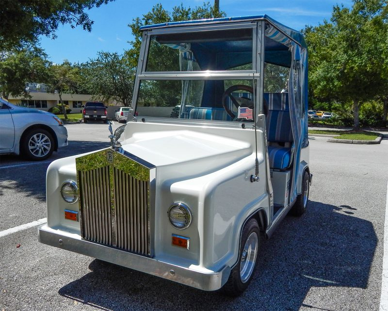 White Royal Ride (Rolls Royce) golf cart, Sun City Center, FL