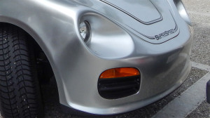 round headlights on Porsche golf cart