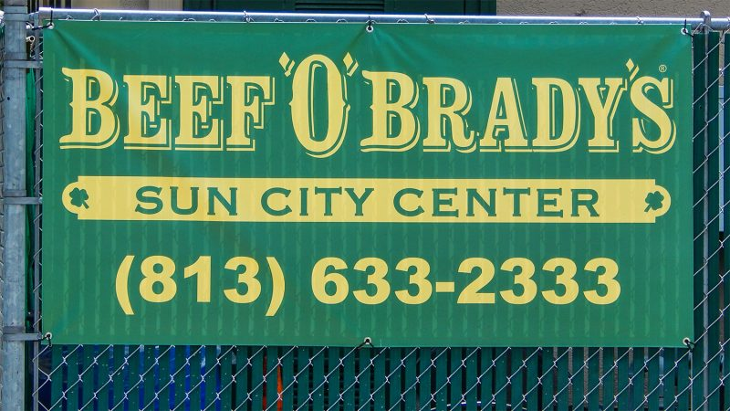 BEEF 'O' BRADY'S Sun City Center, FL (813) 633-2333