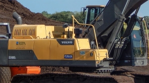 Aug 7, 2014 - close up of VOLVO EC480DL Flagler used by RIPA at new gated community construction site