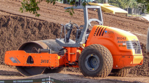 Aug 7, 2014 - Hamm 3410 orange roller owned by RIPA Associates Civil Utility Contractors