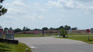 June 7, 2014 construction update - new gated community by Minto at end of Chipper Dr, Sun City Center