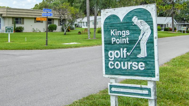 Kings Point golf course on Cambridge