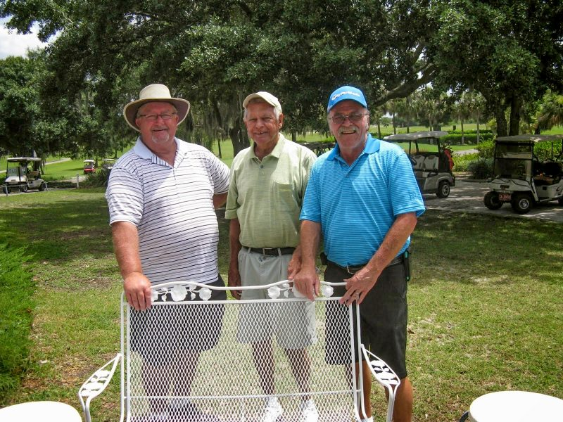 Left to Right: Ruben Jones, Don Mowry, and Paul Swakow, Sandpipers Golf Course Lakes-Palms, Hogans Golf Club of Sun City Center and Kings Point [submitted by Pam Jones]