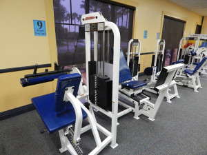 Seated leg curl maching at South Club Fitness Center in Kings Point