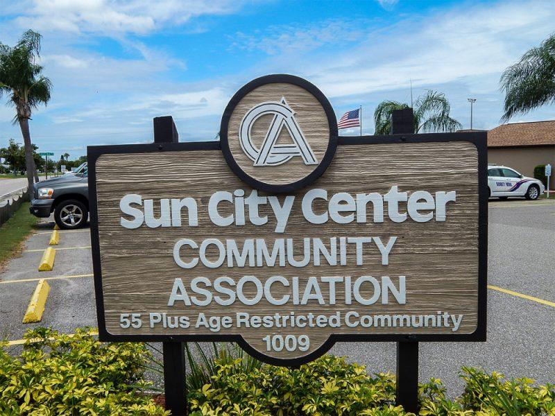Sign Sun City Center Community Association, North Pebble Beach Blvd