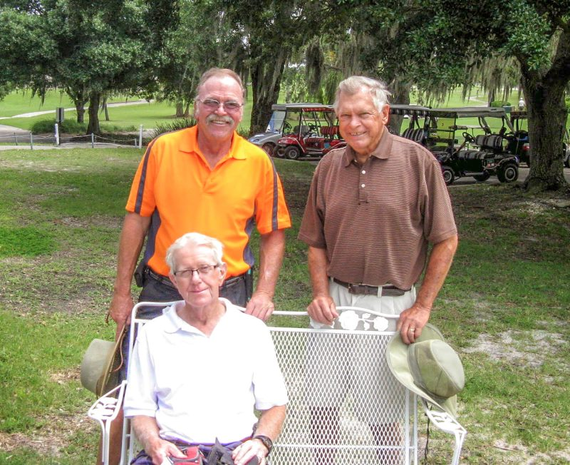 Standing Left to Right, Paul Swakow and Don Mowry, seated, Hank Smythe Sandpiper Lakes-Palms Golf Course | Hogans Golf Club