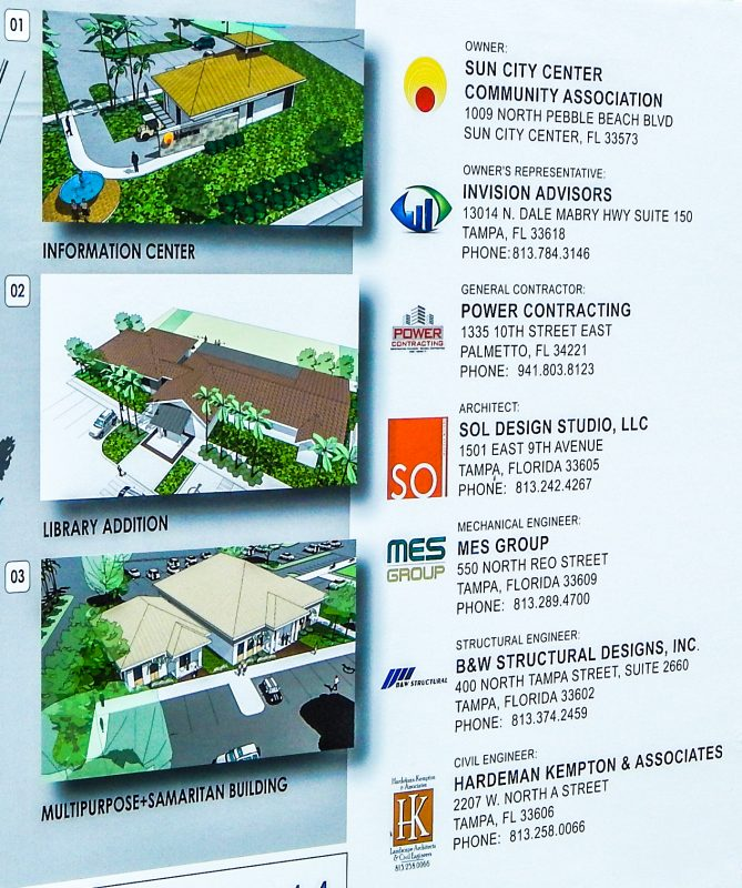 Sun City Center Master Plan 2014 list of businesses involved in construction