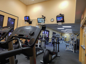 Treadmills and bikes at South Club Fitness Center in Kings Point