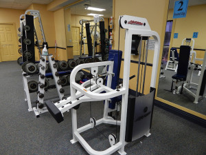 Triceps machine at South Clubhouse Fitness Center in Kings Point