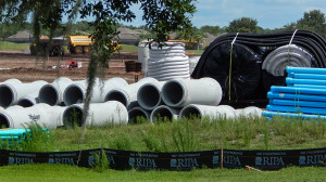July 15, 2014 - concrete sewer pipes for new gated community being installed by RIPA in Sun City Center, FL